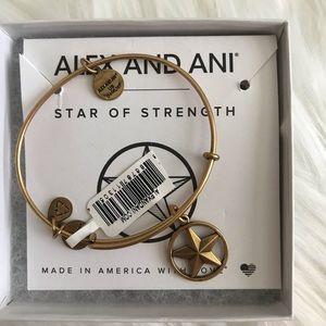 Alex & Ani Star of Strength gold bracelet